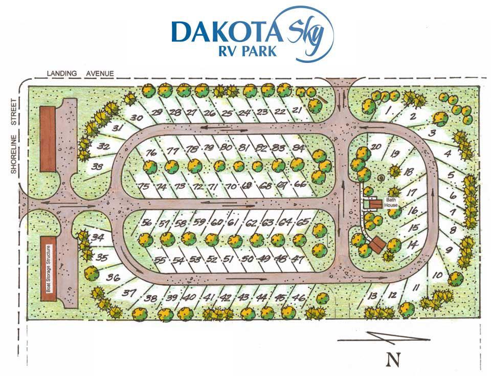 Dakota Sky Lodge & RV Park Map